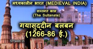 गयासुद्दीन बलबन (1266-86 ई.) Ghiyasuddin Balban in Hindi