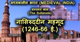 नासिरुद्दीन महमूद (1246-66 ई.) Nasiruddin Mahmud in Hindi