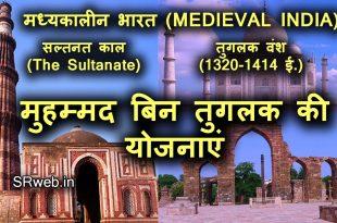 मुहम्मद बिन तुगलक की योजनाएं Schemes of Muhammad bin Tughluq