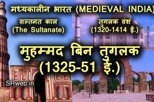 मुहम्मद बिन तुगलक (1325-51 ई.) Muhammad bin Tughluq In Hindi