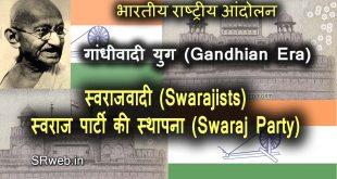 स्वराजवादी Swarajists स्वराज पार्टी की स्थापना Swaraj Party