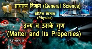 द्रव्य व उसके गुण (Matter and Its Properties) भौतिक विज्ञान (Physics)