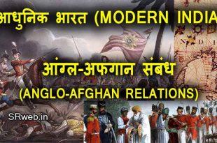 आंग्ल-अफगान संबंध (ANGLO-AFGHAN RELATIONS) आधुनिक भारत (MODERN INDIA)