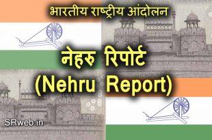 नेहरु रिपोर्ट (Nehru Report) भारतीय राष्ट्रीय आंदोलन (Indian National Movement)