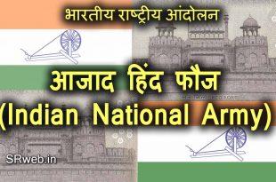 आजाद हिंद फौज (Indian National Army) भारतीय राष्ट्रीय आंदोलन (Indian National Movement)