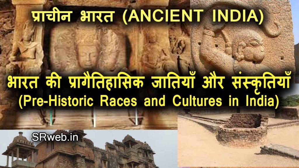 भारत की प्रागैतिहासिक जातियाँ और संस्कृतियाँ (Pre-Historic Races and Cultures in India) प्राचीन भारत (ANCIENT INDIA)