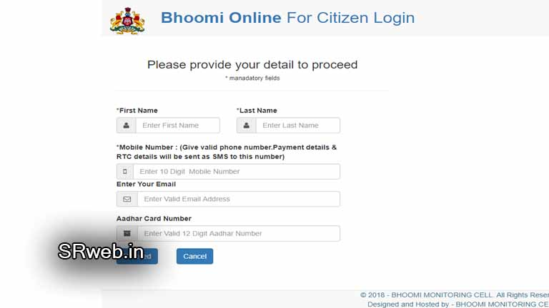 Pahani Bhoomi login for farmers